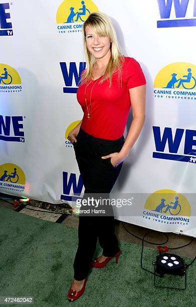 Actress Jodie Sweetin attends an event hosted by WE tv and Ian Ziering to raise awareness for Canine Companions for Independence at Boulevard 3 on...