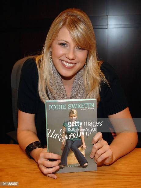 Actress Jodie Sweetin signs copies of her book 'UnSweetined' at The Grove on December 15 2009 in Los Angeles California