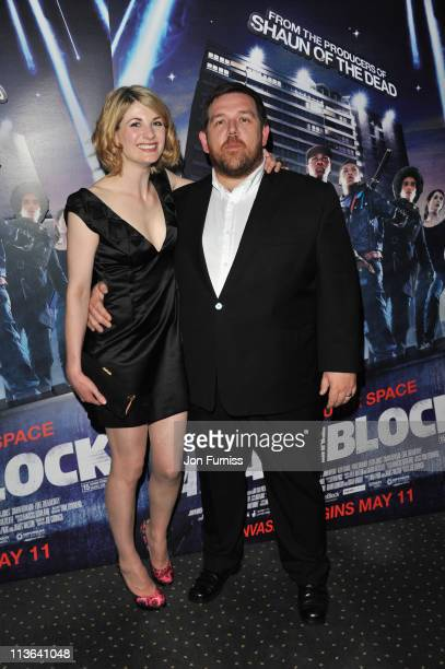 Actress Jodie Whittaker and actor Nick Frost arrive for the 'Attack The Block' UK Premiere at Vue Leicester Square on May 4 2011 in London England