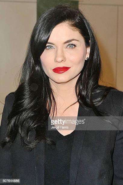 Actress JodiLyn O'Keefe attends the PETA Super Bowl Party at PETA's Bob Barker Building on January 31 2016 in Los Angeles California