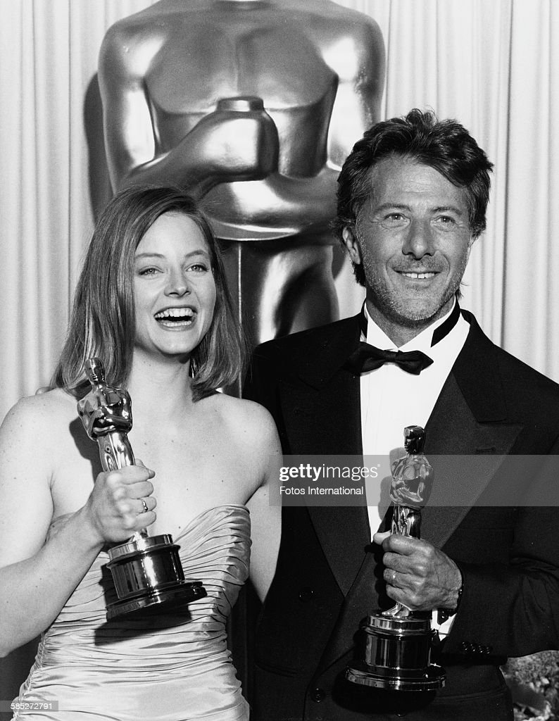 jody foster and dustin hoffman pictures getty images actress jody foster holding best actress oscar for the film the accused