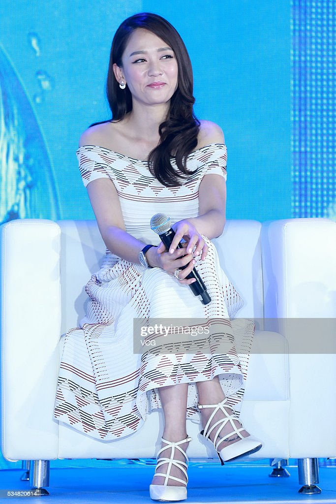 Actress Joe Chen attends a press conference of Scisky brand and China Building Decoration Association's calling for non-toxic indoor decoration on May 28, 2016 in Beijing, China.