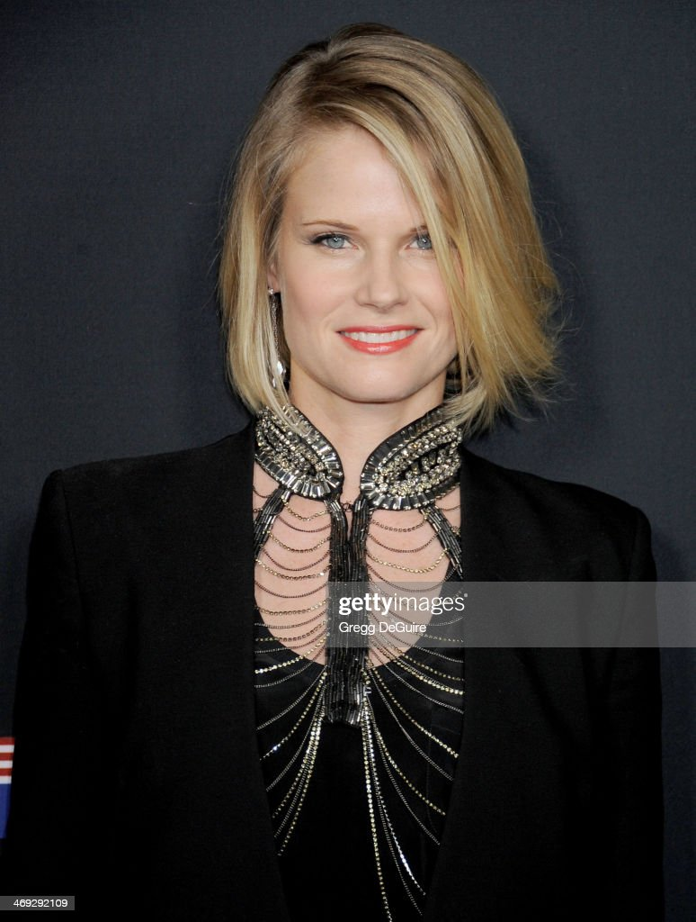 Actress <a gi-track='captionPersonalityLinkClicked' href=/galleries/search?phrase=Joelle+Carter&family=editorial&specificpeople=2433556 ng-click='$event.stopPropagation()'>Joelle Carter</a> arrives at the 'House Of Cards' Season 2 special screening at Directors Guild Of America on February 13, 2014 in Los Angeles, California.