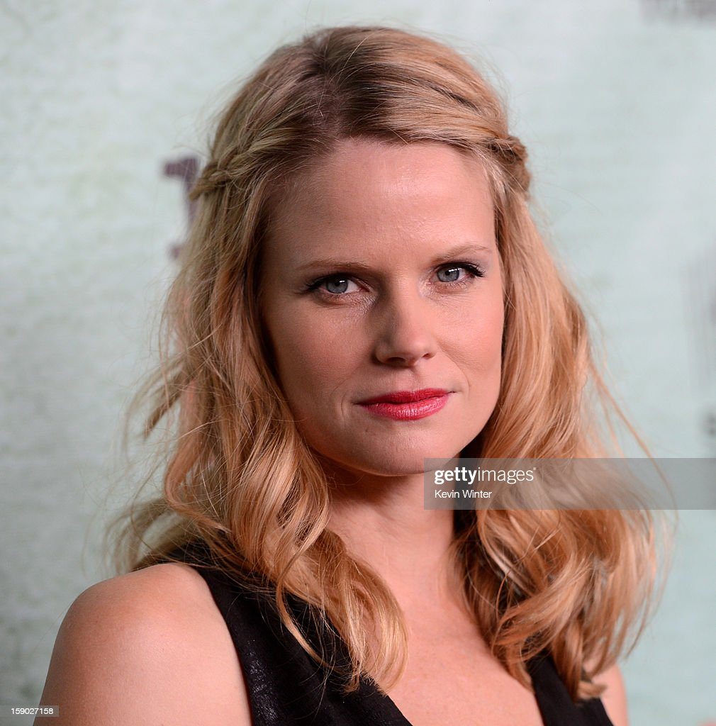 Actress Joelle Carter arrives at the premiere of FX's 'Justified' Season 4 at Paramount Studios on January 5, 2013 in Los Angeles, California.