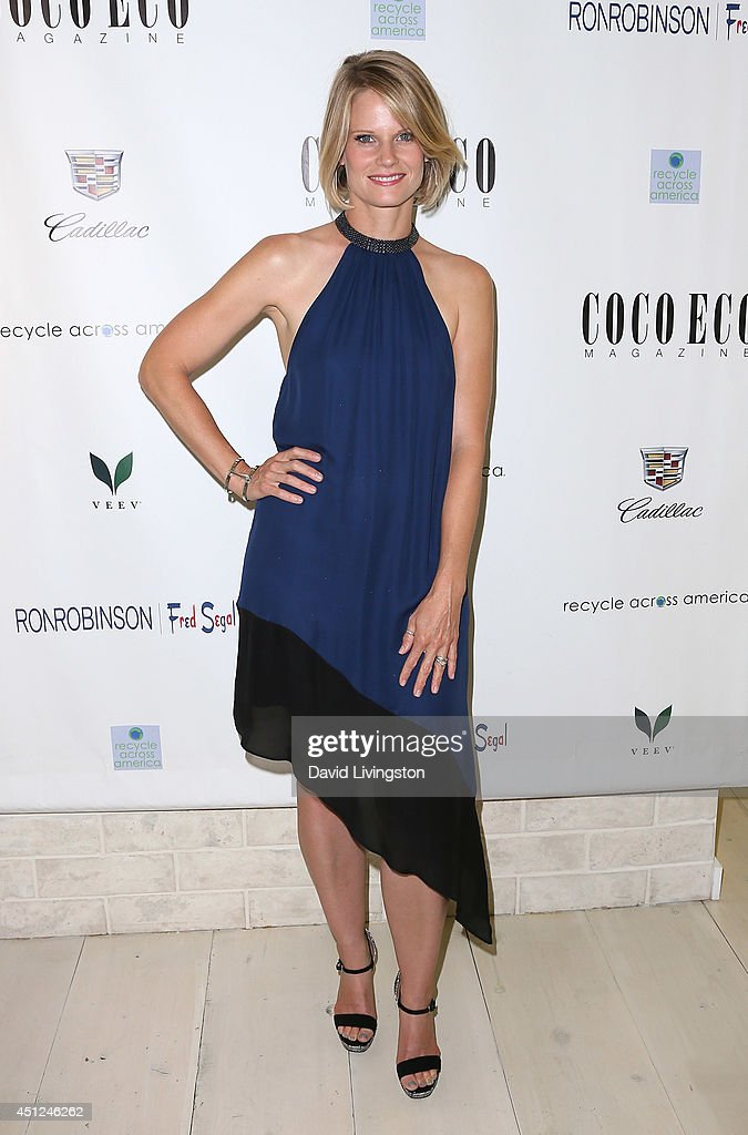 Actress <a gi-track='captionPersonalityLinkClicked' href=/galleries/search?phrase=Joelle+Carter&family=editorial&specificpeople=2433556 ng-click='$event.stopPropagation()'>Joelle Carter</a> attends Coco Eco Magazine's launch of it's Earth Rocks! debut print issue at Roy Robinson at Fred Segal on June 25, 2014 in Los Angeles, California.
