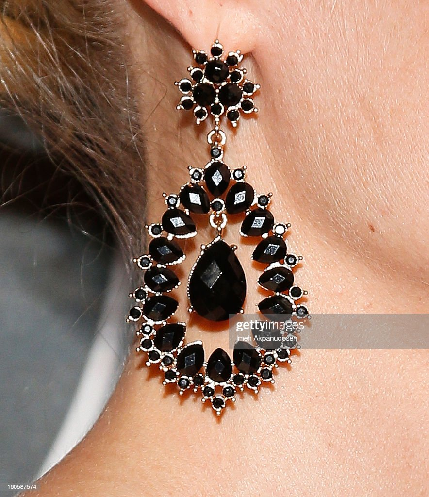Actress Joelle Carter (earring detail) attends the 17th Annual Art Directors Guild Awards For Excellence In Production Design at The Beverly Hilton Hotel on February 2, 2013 in Beverly Hills, California.