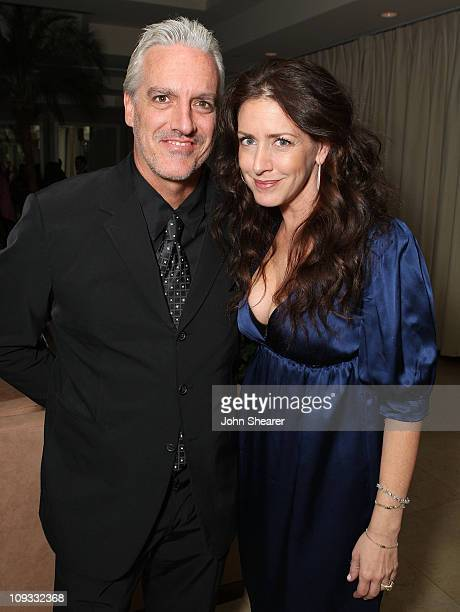 Actress Joely Fisher and husband attends The Gersh Agency EMMY Party w/Special Guest Frederic Fekkai held at The Terrace at Sunset Tower Hotel on...