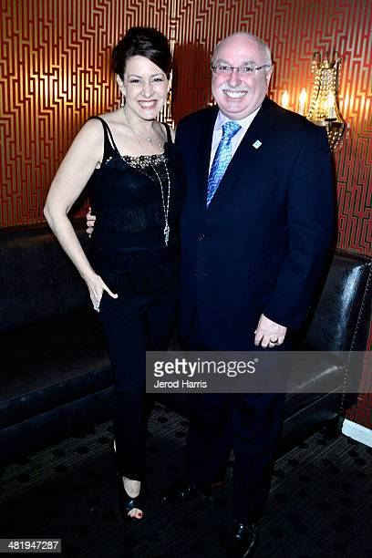 Actress Joely Fisher and IFAW President and CEO Azzedine Downes attends an evening with Azzedine Downes President and CEO of the International Fund...