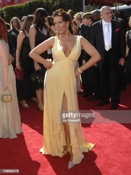Actress Joely Fisher arrives at the 59th Primetime EMMY Awards at the Shrine Auditorium on September 16 2007 in Los Angeles California