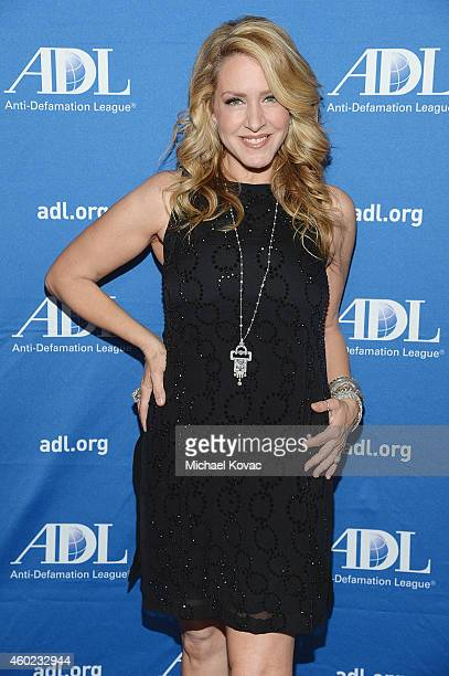 Actress Joely Fisher arrives at the AntiDefamation League's Annual Gala Celebration at The Beverly Hilton Hotel on December 9 2014 in Beverly Hills...