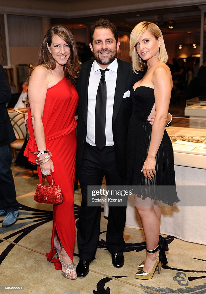 Actress Joely Fisher, host Brett Ratner, and actress Mena Suvari attend the 100th anniversary celebration of the Beverly Hills Hotel & Bungalows supporting the Motion Picture & Television Fund and the American Comedy Fund hosted by Brett Ratner and Warren Beatty at Beverly Hills Hotel on June 16, 2012 in Beverly Hills, California.