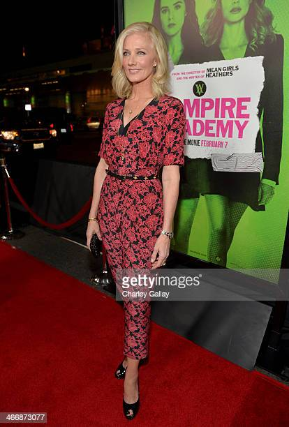 Actress Joely Richardson arrives at The Weinstein Company's premiere of 'Vampire Academy' at Regal 14 at LA Live Downtown on February 4 2014 in Los...
