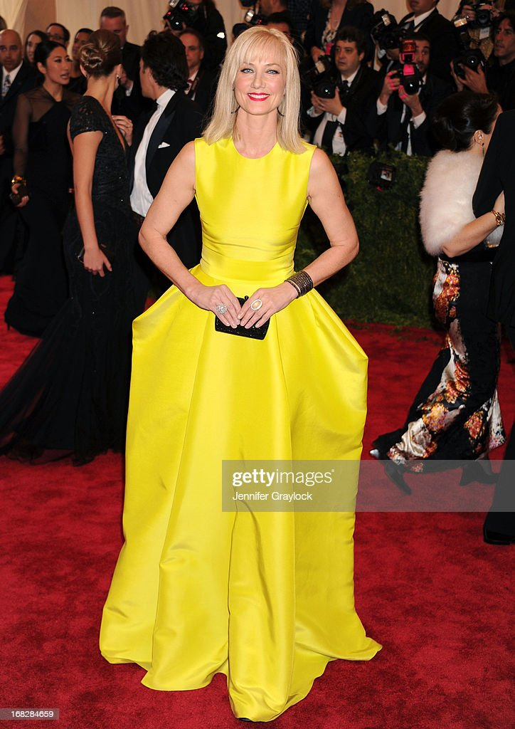 Actress Joely Richardson attends the Costume Institute Gala for the 'PUNK: Chaos to Couture' exhibition at the Metropolitan Museum of Art on May 6, 2013 in New York City.