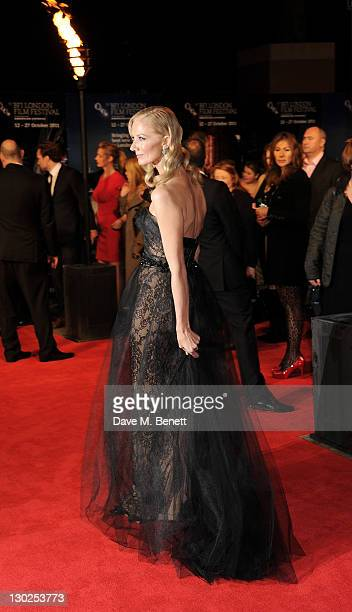 Actress Joely Richardson attends the premiere of 'Anonymous' during the 55th BFI London Film Festival at Empire Leicester Square on October 25 2011...