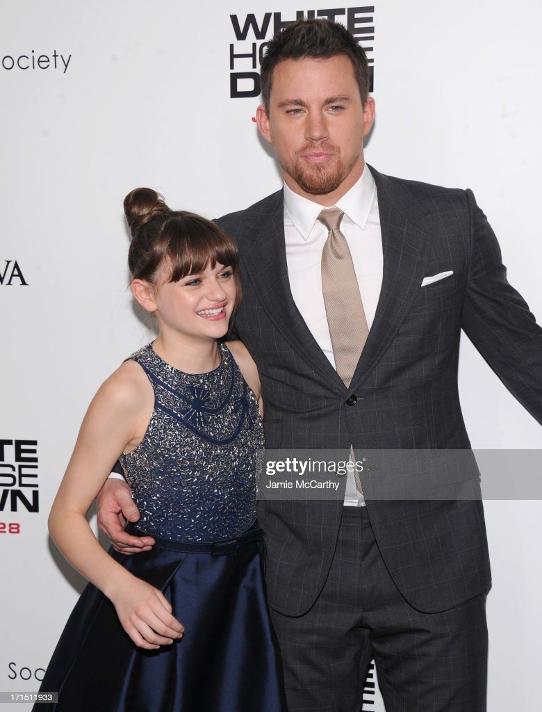Actress Joey King and actor Channing Tatum attends 'White House Down' New York Premiere at Ziegfeld Theater on June 25, 2013 in New York City.