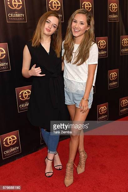 Actress Joey King and celebrity host Electra Formosa attend The Celebrity Experience QA Panel at Hilton Universal Hotel on July 16 2016 in Los...