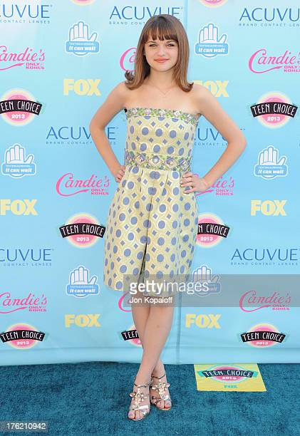 Actress Joey King arrives at the 2013 Teen Choice Awards at Gibson Amphitheatre on August 11 2013 in Universal City California