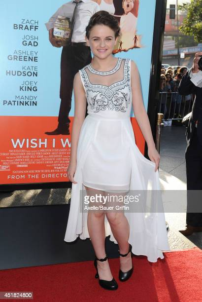 Actress Joey King arrives at the Los Angeles Premiere 'Wish I Was Here' at the DGA Theater on June 23 2014 in Los Angeles California