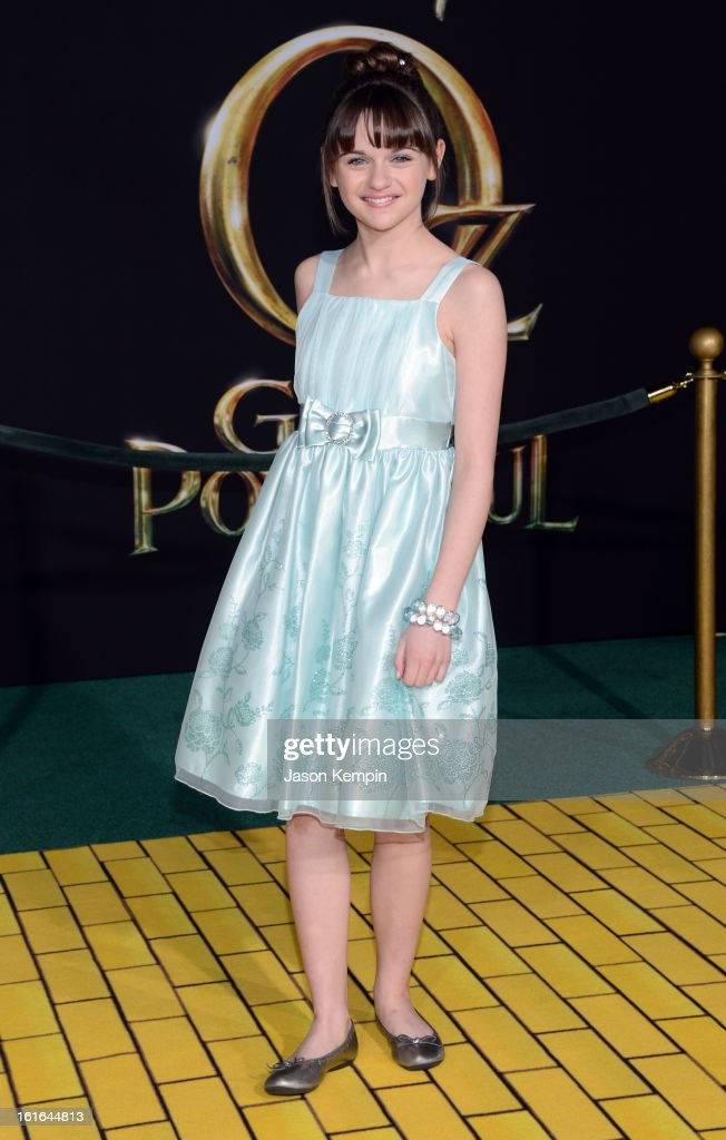 Actress Joey King arrives for the world premiere of Walt Disney Pictures' 'Oz The Great And Powerful' at the El Capitan Theatre on February 13, 2013 in Hollywood, California.