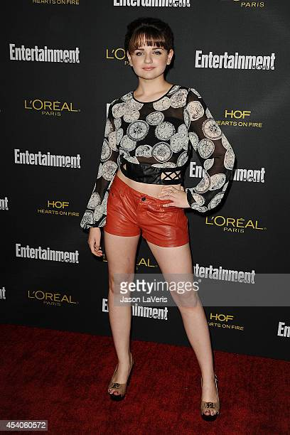 Actress Joey King attends the 2014 Entertainment Weekly preEmmy party at Fig Olive Melrose Place on August 23 2014 in West Hollywood California