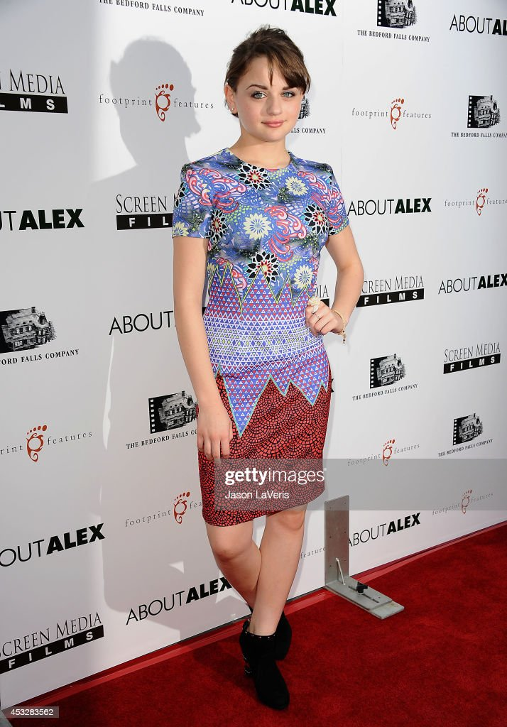 Actress <a gi-track='captionPersonalityLinkClicked' href=/galleries/search?phrase=Joey+King+-+Actress&family=editorial&specificpeople=2264584 ng-click='$event.stopPropagation()'>Joey King</a> attends the premiere of 'About Alex' at ArcLight Hollywood on August 6, 2014 in Hollywood, California.