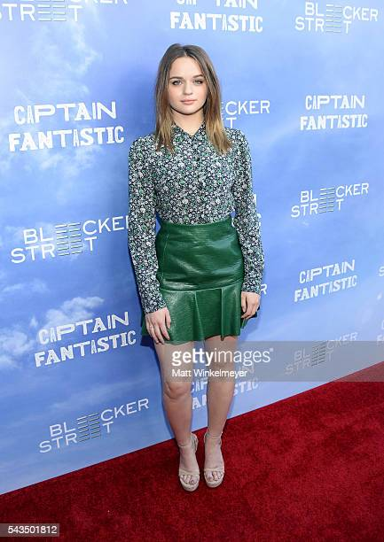 Actress Joey King attends the premiere of Bleecker Street Media's 'Captain Fantastic' at Harmony Gold on June 28 2016 in Los Angeles California