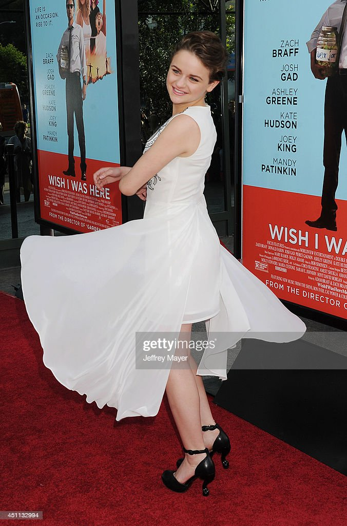Actress <a gi-track='captionPersonalityLinkClicked' href=/galleries/search?phrase=Joey+King+-+Actress&family=editorial&specificpeople=2264584 ng-click='$event.stopPropagation()'>Joey King</a> attends the 'Wish I Was Here' Los Angeles premiere on June 23, 2014 at the DGA Theater in Los Angeles, California.
