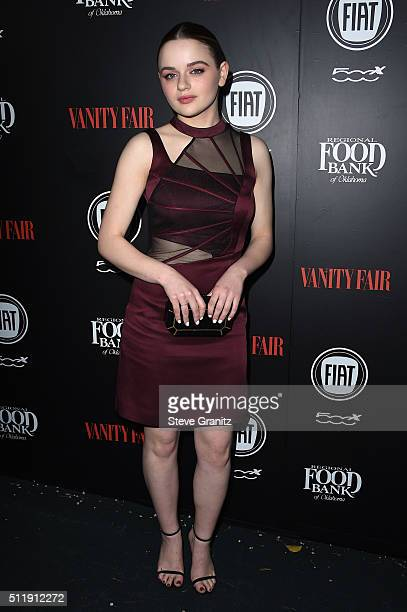 Actress Joey King attends Vanity Fair and FIAT Young Hollywood Celebration at Chateau Marmont on February 23 2016 in Los Angeles California