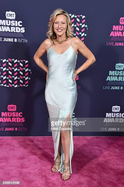 Actress Joey Lauren Adams attends the 2016 CMT Music awards at the Bridgestone Arena on June 8 2016 in Nashville Tennessee