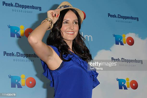 Actress Johanna Klum attends the German Premiere of 'RIO' at Cinedome on April 2 2011 in Cologne Germany