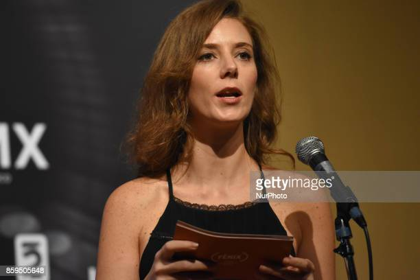 Actress Johanna Murillo is seen during a press conference to promote Fenix Film Awards 2017 on October 09 2017 in Mexico City Mexico