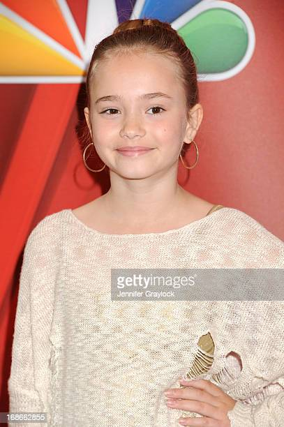 Actress Johnny Sequoyah attends the 2013 NBC Upfront Presentation Red Carpet Event at Radio City Music Hall on May 13 2013 in New York City