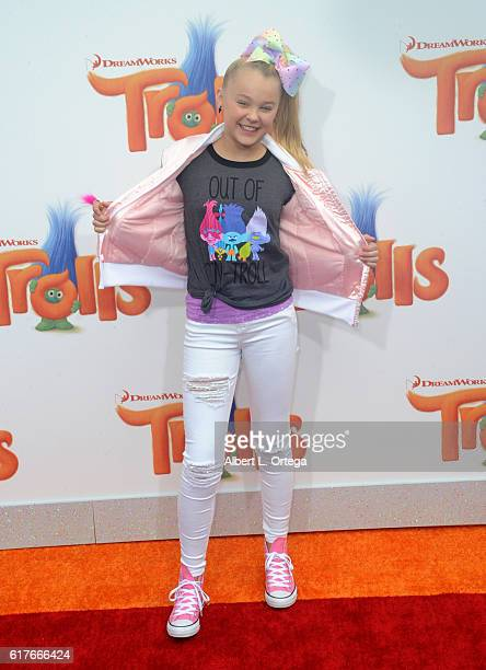 Actress JoJo Siwa arrives for the Premiere Of 20th Century Fox's 'Trolls' held at Regency Village Theatre on October 23 2016 in Westwood California
