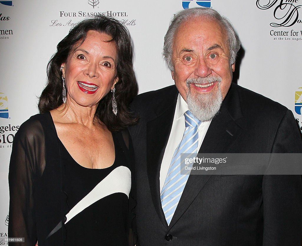 Actress Jolene Brand (L) and husband producer <a gi-track='captionPersonalityLinkClicked' href=/galleries/search?phrase=George+Schlatter&family=editorial&specificpeople=691335 ng-click='$event.stopPropagation()'>George Schlatter</a> attend the Los Angeles Mission's 20th Anniversary Gala for the Anne Douglas Center for Women at the Four Seasons Hotel Los Angeles at Beverly Hills on September 12, 2012 in Beverly Hills, California.