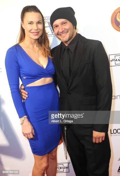 Actress Jon Mack and Musician/artist Neil D'Monte at the 2017 Society Of Camera Operators Awards held at Loews Hollywood Hotel on February 11 2017 in...