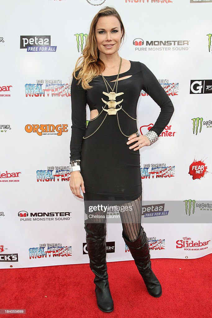 Actress Jon Mack attends Rob Zombie's Great American Nightmare VIP opening night party at Pomona FEARplex on October 10, 2013 in Pomona, California.