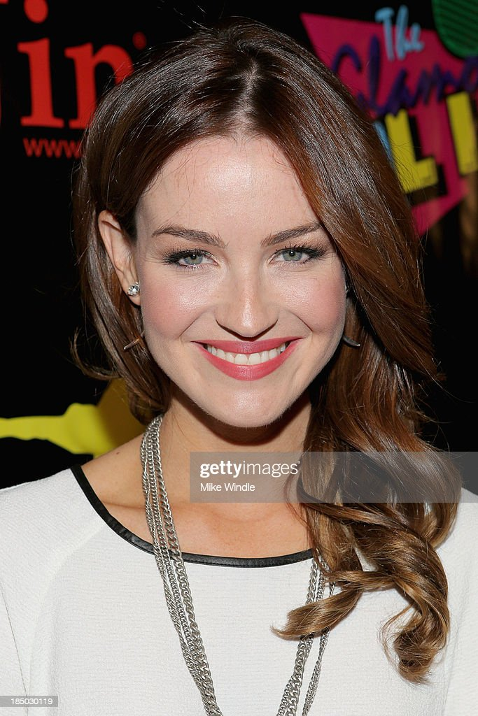 Actress Jonna Walsh arrives at iiJin's Spring/Summer 2014 'The Glamorous Life' clothing and footwear collection fashion show at Avalon on October 16, 2013 in Hollywood, California.