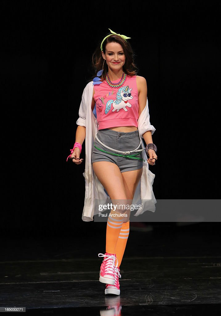 Actress Jonna Walsh walks the runway at iiJin's spring/summer 2014 'The Glamorous Life' fashion show at Avalon on October 16, 2013 in Hollywood, California.