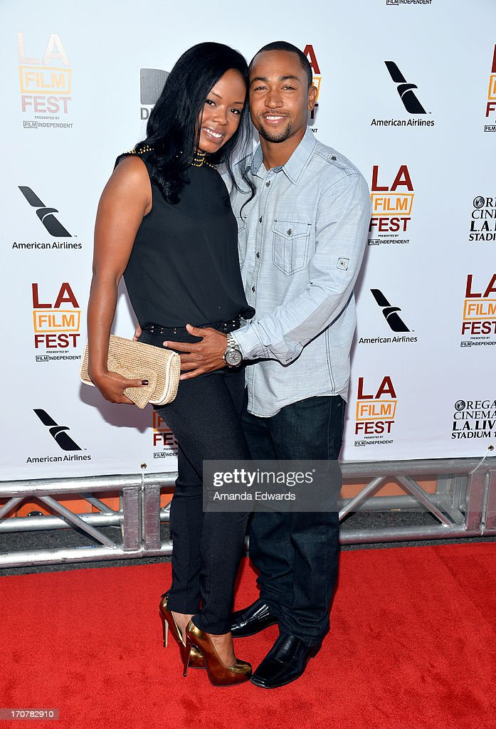 Actress Jontille Gerard (L) and Actor <a gi-track='captionPersonalityLinkClicked' href=/galleries/search?phrase=Percy+Daggs+III&family=editorial&specificpeople=725957 ng-click='$event.stopPropagation()'>Percy Daggs III</a> (R) attend the 'Fruitvale Station' premiere during the 2013 Los Angeles Film Festival at Regal Cinemas L.A. Live on June 17, 2013 in Los Angeles, California.