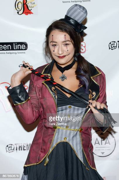 Actress Jordan Genung attends Mateo Simon's Halloween Charity Event on October 28 2017 in Burbank California