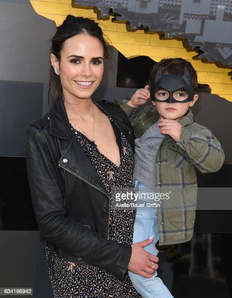 Actress Jordana Brewster and son Julian FormBrewster arrive at the premiere of Warner Bros Pictures' 'The LEGO Batman Movie' at Regency Village...