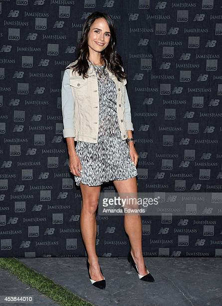 Actress Jordana Brewster arrives at a dance party with New Balance and James Jeans powered by ISKO at a private residence on August 19 2014 in...