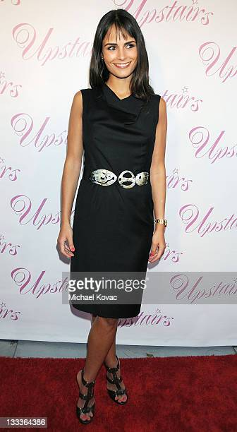 Actress Jordana Brewster arrives at 'A Night Upstairs' Grand Opening of Upstairs Boutique at Upstairs Boutique on July 30 2009 in West Hollywood...