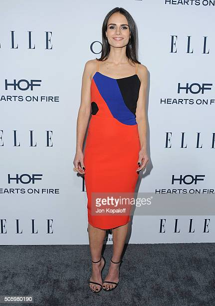 Actress Jordana Brewster arrives at ELLE's 6th Annual Women In Television Dinner at Sunset Tower Hotel on January 20 2016 in West Hollywood California