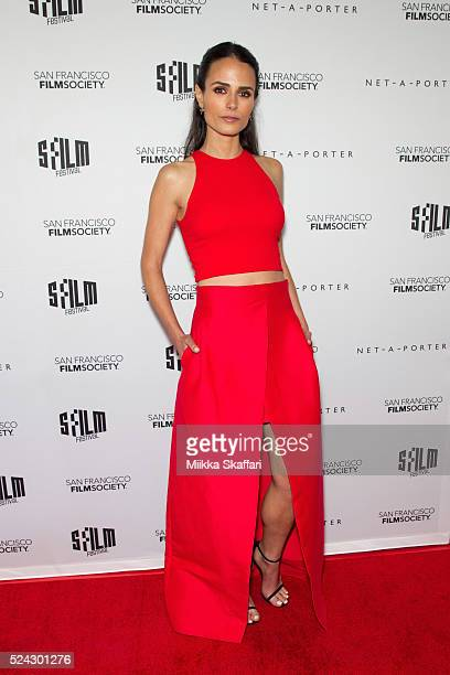 Actress Jordana Brewster arrives at Film Society Awards night at 59th San Francisco International Film Festival at Fort Mason Center on April 25 2016...