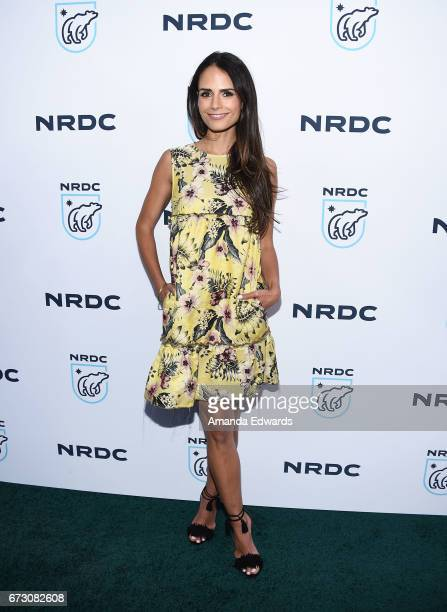 Actress Jordana Brewster arrives at the Natural Resources Defense Council's STAND UP event at the Wallis Annenberg Center for the Performing Arts on...