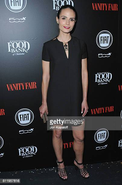 Actress Jordana Brewster arrives at Vanity Fair And FIAT Toast To 'Young Hollywood' at Chateau Marmont on February 23 2016 in Los Angeles California
