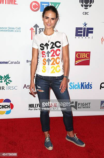 Actress Jordana Brewster attends Hollywood Unites for the 4th Biennial Stand Up for Cancer a Program of the Entetainment Industry Foundation at the...