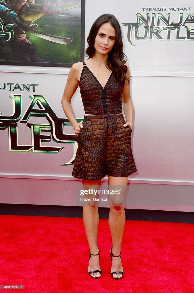 Actress Jordana Brewster attends Paramount Pictures' 'Teenage Mutant Ninja Turtles' premiere at Regency Village Theatre on August 3, 2014 in Westwood, California.