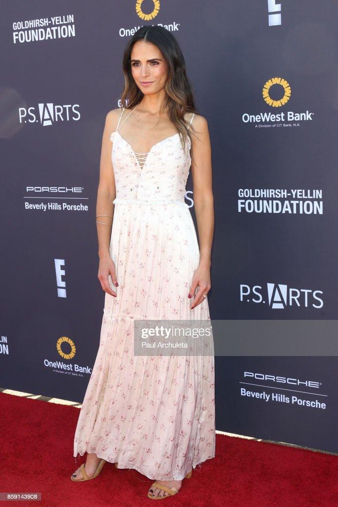 Actress Jordana Brewster attends P.S. ARTS' Express Yourself 2017 event at Barker Hangar on October 8, 2017 in Santa Monica, California.
